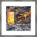 Window Thru The Depth Of Firey Fury Framed Print