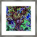 Windy Blue Green Tree Framed Print
