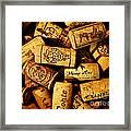 Wine Corks - Art Version Framed Print