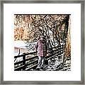 Winter At Frozen Lochside Framed Print