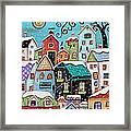 Winter City Framed Print