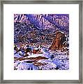 Winter Morning Alabama Hills And Eastern Sierras Framed Print