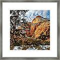 Winter Morning In Zion Framed Print
