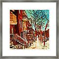 Winter Staircase Framed Print