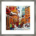 Winter Walk Montreal Framed Print