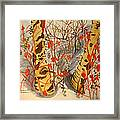 Winter's Paintbrush Framed Print