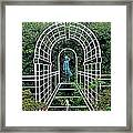 Wire Garden Arch Framed Print