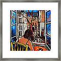 Woman At Window Framed Print