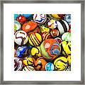 Wonderful Marbles Framed Print