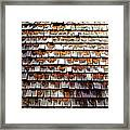 Wood Roof Shingles Framed Print