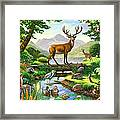 Woodland Harmony Framed Print