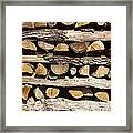 Woodpile. Framed Print