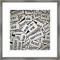 Words... Framed Print