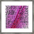 Words Of Love 3 Framed Print