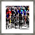 Working Together To Catch The Leader Framed Print