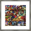 World Travel Book Shelf Framed Print