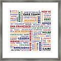 World Travel Framed Print