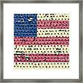 Worn Out American Flag Framed Print