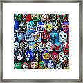 Wrestling Masks Of Lucha Libre Framed Print