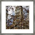 Wrigley Building In Autumn  Framed Print by Leslie Leda