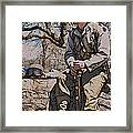 Wwii Soldier Two Framed Print