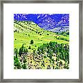 Wyoming Hillside Framed Print