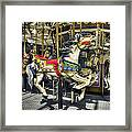 Xmas Carousel Framed Print