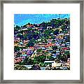 Yauco On The Hill Framed Print