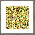 Yellow Abstract Pattern Made Out Of Framed Print