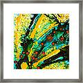 Yellow Abstract Framed Print by Sharon Cummings