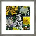 Yellow And White Flower Collage Framed Print