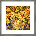 Yellow Bouquet - Palette Knife Oil Painting On Canvas By Leonid Afremov Framed Print