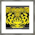 Yellow Chrysanthemums Polar Coordinates Effect Framed Print