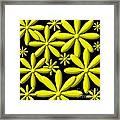 Yellow Flower Power 3d Digital Art Framed Print