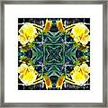 Yellow Flowers In My Garden Framed Print