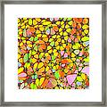 Yellow Red Green Blue Digital Flower Mesh Framed Print
