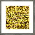Yellow Rope Stack Framed Print