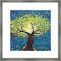 Yellow Squiggle Tree Framed Print