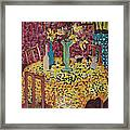 Yellow Table Framed Print by Karen Coggeshall