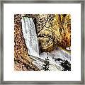 Yellowstone Lower Falls Rainbow Framed Print