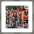 Young Bikers Framed Print