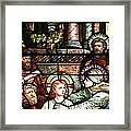 Young Jesus In The Temple Framed Print