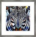 Zebra Dreams Framed Print