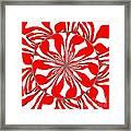 Zebra Red Swirling Kaleidoscope  Framed Print