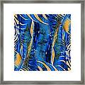 Zebras Abstracted Framed Print