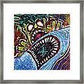 Zombie Shark Fight Framed Print