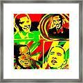 4 Rasta Obama Framed Print by Tony B Conscious