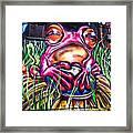 Atomic Frog Framed Print