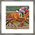 Betting On Number Four Framed Print