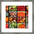 Fruits Collage Framed Print